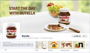 Nutella auf Facebook